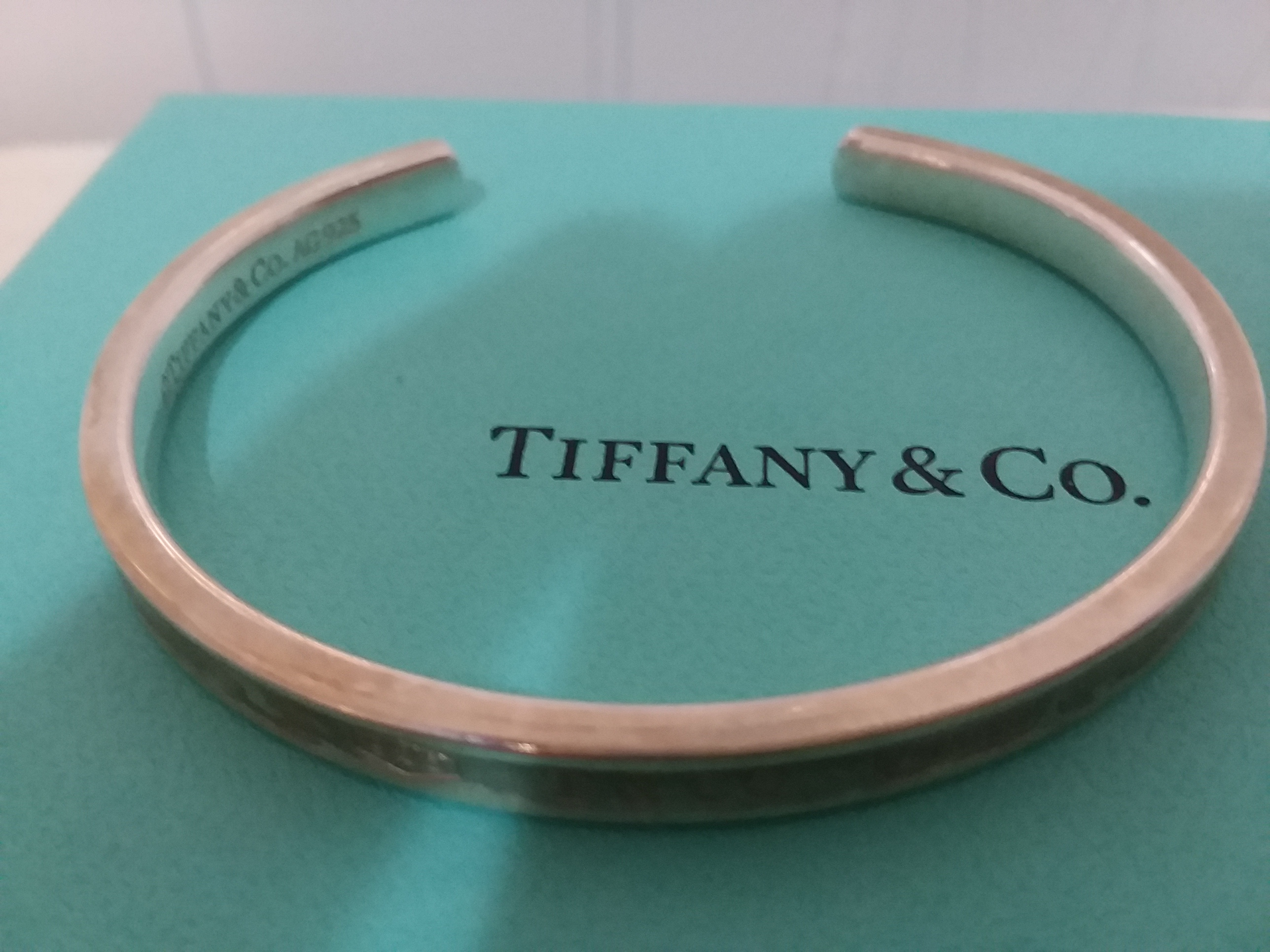 8a541239f Tiffany & Co. Sterling Silver .925 1837 Cuff Bracelet w/ Box ...