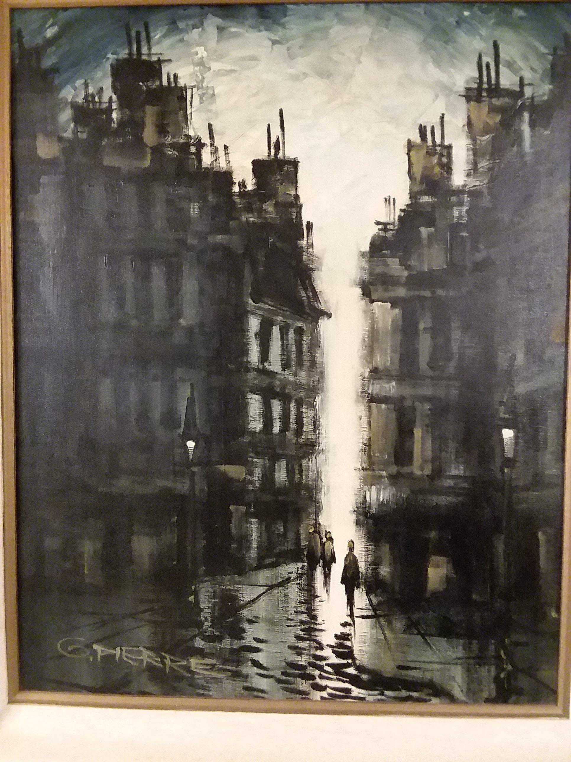 Gaston pierre impressionist paris street scene painting